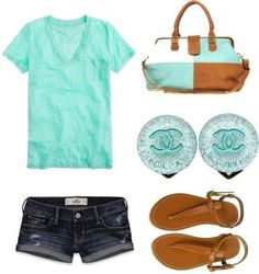 Aqua tee cute for summer
