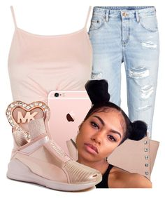 « noelle » by jaadentiller on Polyvore featuring Topshop, Michael Kors, MICHAEL Michael Kors and Puma