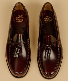 Landrover tassel penny loafer, $120... the longer vamp makes it dressier and ok to wear w/ a suit... socks optional