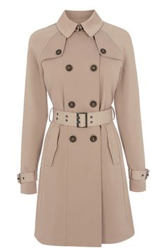 Trench coats | Neutral Stud Belted Mac | Warehouse