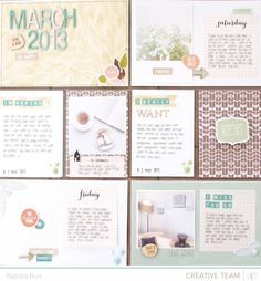 blinks.of.life » March PL kit page. Love the brown PP in the smaller pockets and the PP used in the title card