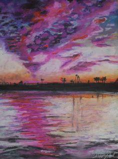 #sunset #oilpastel #art