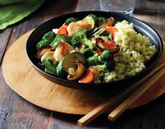 Asian Stir Fry with Cauliflower Rice   Paleo Vegetable Recipe (swap chicken for tofu, tempeh, or seitan)