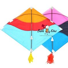 40 Multicolor Gheshiya Kat Fighter Kites + Free Shipping India #kites #manja #Online #shooping