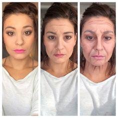Old Lady Makeup, 2000s Makeup, Corrective Makeup, Dark Summer, Kids Makeup, Male Makeup, Old Age, Special Effects Makeup, Makeup Blog