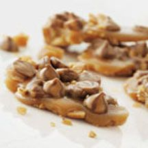 Swirlicious Chocolate-Peanut Toffee - Roasted peanuts and swirled milk chocolate and peanut butter morsels are a winning combination of rich flavors in this delicious toffee.