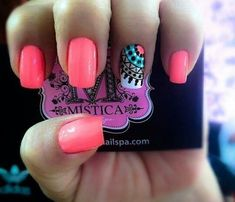 """ with ・・・ Cuando me preguntan por mis… Gorgeous Nails, Love Nails, How To Do Nails, Pretty Nails, Fun Nails, Pretty Nail Designs, Nail Art Designs, Nails For Kids, Easter Nails"