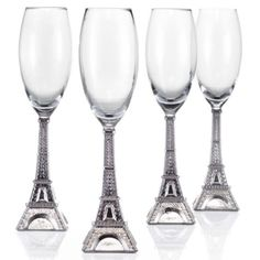 Eiffel Tower Flutes - Set of 4 from Z Gallerie