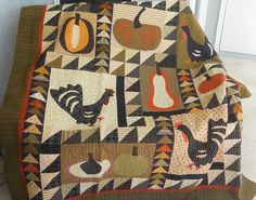 Log Cabin Quilter: A Favorite Fall Quilt Book, Pumpkins and turkey feathers