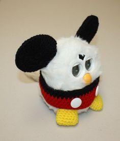 Crochet Outfit Clothes for Furby Furby Boom Furby Mickey w Black Earmuffs | eBay