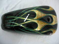 gold leaf custom paint jobs | Green-Gold-Leaf-Flames