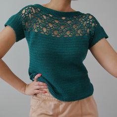 make this Crochet Summer Fan Top one you will reach for often. Pair it with your favorite jeans or dress it up for a night out. Read about my process or skip to the free Crochet Summer Fan Top pattern. Débardeurs Au Crochet, Gilet Crochet, Crochet Woman, Crochet Blouse, Free Crochet, Crochet Style, Crochet Summer Tops, Summer Knitting, Crochet Tops