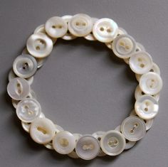 8mm Antique mother of pearl button bracelet. Made to order, any size!! See my 10% off sale in my shops homepage!