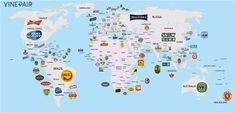 Hay muchas cosas que definen la cultura de un país, y una de ellas es la cerveza. Este mapa, elaborado por la publicación VinePair, especializada en el mundo del vino y las bebidas, muestra de un vistazo las cervezas más consumidas en 100 países. Desgraciadamente, la más popular no siempre es la mejor.
