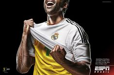 Print advertisement created by Africa, Brazil for ESPN, within the category: Media. Football Ads, Football Couples, Football Shirts, Football Players, Nike Campaign, Campaign Posters, Manchester United, Rugby, Soccer Aid