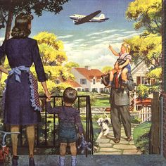 Detail Of Air Transport Association Washington DC For All - Mad Men Art: The Vintage Advertisement Art Collection Vintage Advertisements, Vintage Ads, Vintage Images, Vintage Posters, Vintage Housewife, Family Painting, Ad Art, The Good Old Days, Old Pictures
