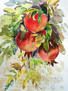 """Pomegranate"" - Original Fine Art for Sale - © Lisa Fu"