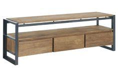 d-Bodhi laag dressoir Fendy, 3 laden, open vak 56x160x40 cm