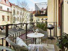 nice city balcony with outdoor lights