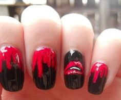 rocky horror picture show nails YES!!!!!