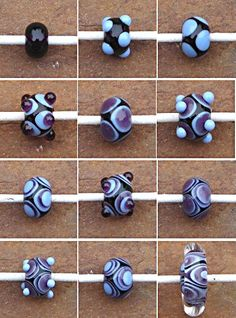 Small lampwork bead with stretched encased design Gallery. Glass Jewelry, Beaded Jewelry, Glass Beads, Jewellery, Polymer Beads, Lampwork Beads, Handmade Beads, Earrings Handmade, Stained Glass Panels