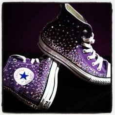 purple Swavorski crystal covered Chuck Taylor All-Star Converse sneakers