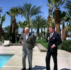 President Eisenhower and  JFK Palm Springs Calif. Eldorado Country Club Indian Wells Calif.
