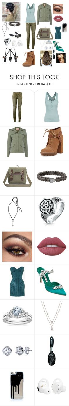 """""""j 2"""" by cindy-morton on Polyvore featuring Balmain, Free People, Levi's, BCBGeneration, Lanvin, Bling Jewelry, Lime Crime, Manolo Blahnik, Conair and Samsung"""