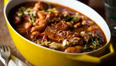 Paprika pork, bean and cabbage stew - Great to feed a crowd. #Stews #WinterWarmers #Recipe