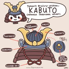 Kabuto, a traditional Japanese helmet used by ancient warriors. The kabuto is also an important part of samurai armor and equipment. ´・ᴗ・`✧ ♥ www.japanlover.me ♥