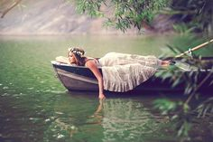 Young fairytale maiden in solitude