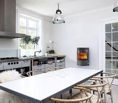 Wall mounted wood stove!   Morsø 7670 Convection