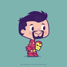 Super-heróis viram crianças nas ilustrações de Matt Kaufenberg