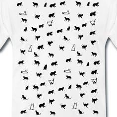 SpreadCats | Kleine Katze Katzen Kätzchen Mieze Geschenk - Männer Premium T-Shirt. Schönes Design mit einer Katze. Toll geeignet als Geschenk für Katzen Liebhaber und Katzenbesitzer. #katze #Kätzchen #katzenliebhaber #cat #cute #kitty T Shirt Designs, Gifts For Cats, Nice Designs, Nice Asses, Tee Shirt Designs