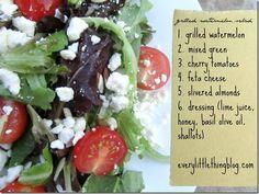 Grilled Watermelon Salad!