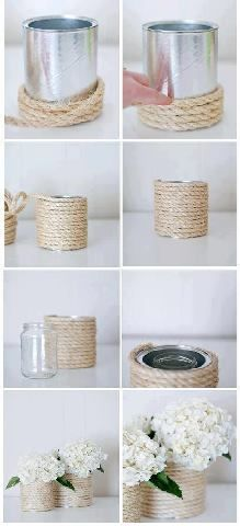 simple and cute for a center piece (Would also be cute with twine)
