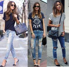 calça jeans destroyed, calça jeans, calça rasgada, calça feminina, t-shirt, blog de moda, dicas de moda,roupa, t shirts, moda, t-shirt estampada
