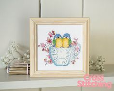 Cross stitch idea - the 'nest' of friends ;) Cutest birdie project, great first-time evenweave idea, only in issue 218 of The World of Cross Stitching magazine