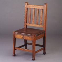 roycroft furniture   Rago Arts & Auction Center Image 1 ROYCROFT side chair (no. 025) with ...