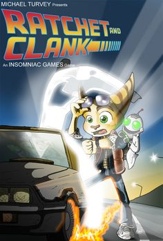 This poster combines Ratchet and Clank and Back to the Future and it's just......omg I love it.