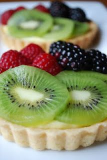Fresh fruit tarts-had some for our anniversary. Now I'm on a mission to make my own! :d