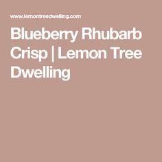 Blueberry Rhubarb Crisp | Lemon Tree Dwelling