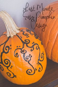 Our Holly Days: Last Minute, Easy Pumpkin Design
