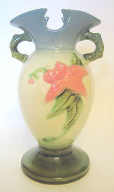 Hull Hi-gloss Vase Woodlands Pattern Vintage Curio 6 1/2 Inch 1950s #FloralandSimple