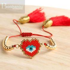 Jewelry Making Tutorials, Beading Tutorials, Beading Patterns, Beaded Earrings, Beaded Jewelry, Handmade Jewelry, Bracelet Crafts, Seed Bead Bracelets, Bracelet Tutorial