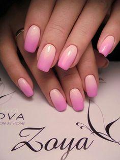 Розовый Manicure Nail Designs, Pink Manicure, Pink Nail Art, Ombre Nail Designs, Colorful Nail Designs, Cute Acrylic Nails, Pink Nails, Nail Art Designs, Stylish Nails