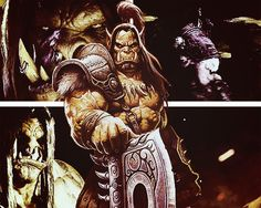 Grom Hellscream: Warsong Clan: For The Horde. (Tumblr) Grom Hellscream, Garrosh Hellscream, For The Horde, World Of Warcraft, Movie Posters, Art, Art Background, Film Poster, Kunst
