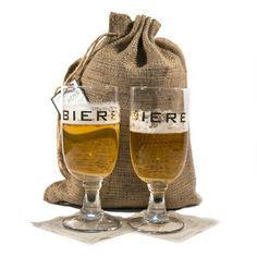 Biere Glasses Gift Set....great for Father's Day or Birthday.....