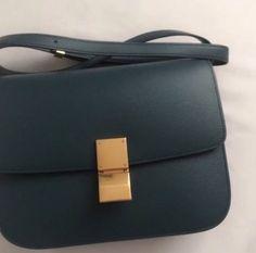 Details about Authentic Celine Medium Classic Box Deepsea Almost Brand New 9d83faef0af6d