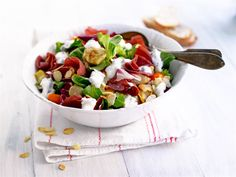 Serranokinkku-salaatti Orange Crush, Cobb Salad, Potato Salad, Nutrition, Ethnic Recipes, Food, Essen, Meals, Yemek